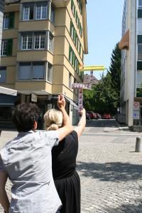 Künstlerisches Mitwirkungsprojekt »Fertig machen!« von Hanswalter Graf, Ausstellungsprojekt »Reactivate! Art in Public Space«, Zug 2013.