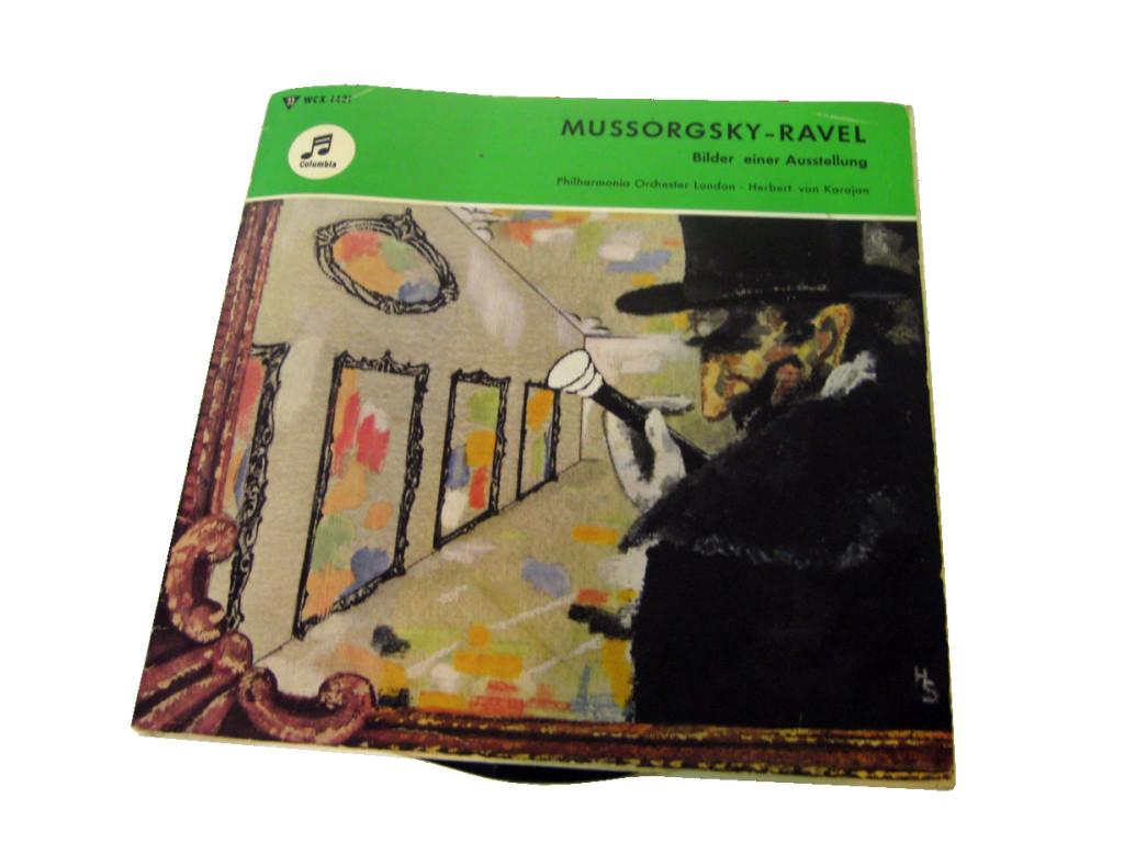 """Wir sehen ein Plattencover von Mussorgskys """"Bilder einer Ausstellung"""". Die Kunst wird uns retten und unseren Realitätsbegriff erweitern."""