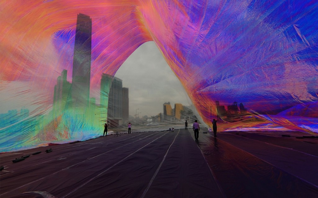 Tomas Saraceno, Poetic Cosmos of the Breath, Mobile M+ Inflation, 2013 Foto: West Kowloon Cultural District Authority