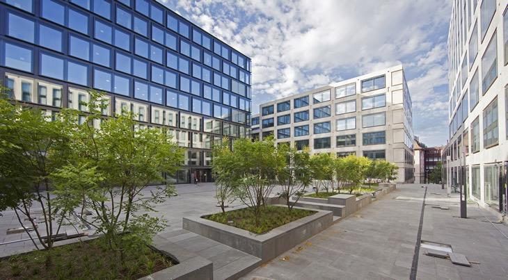 Maximale Dichte für die neuen Gebäude der Pädagogischen Hochschule, die den Campusplatz umschliessen (PH Zürich, Foto: Mike Krishnatreya)
