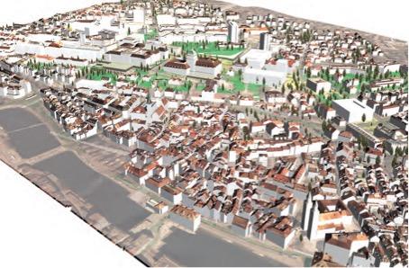 Modell des neuen Hochschulquartiers: Die Volumen der historischen Bauten von Universität und ETH, die über der Altstadt thronen, geben den Massstab für die Entwicklung vor (Masterplan Hochschulgebiet Zentrum)