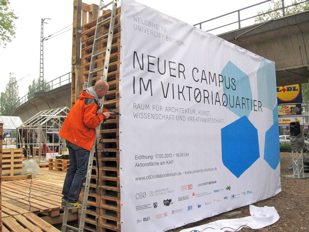 »Campus Viktoria.« Intervention zur Stadtentwicklung im öffentlichen Raum 2013.